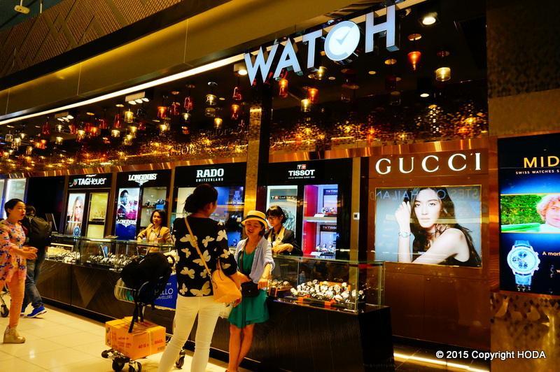 スワンナプーム国際空港 免税店  世界の時計