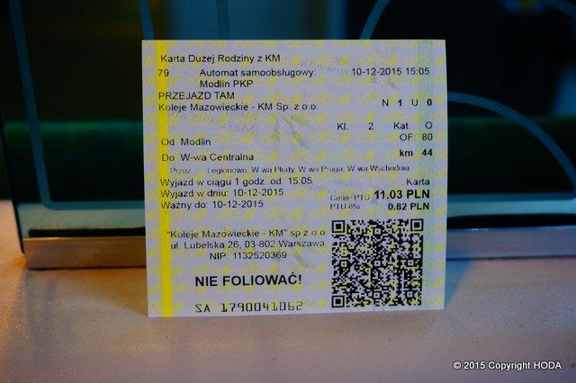 ポーランド KM チケット