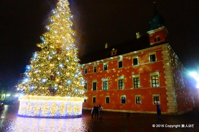 ワルシャワ 旧市街 クリスマス