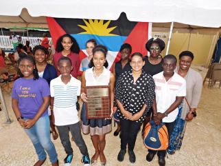 Group photo of winners at the Wadadli Pen Challenge Awards, 2017. (Photo by Linisa George/Art. Culture. Antigua)