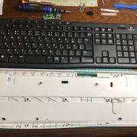 Logicool フルキーボード K270 & 小型マウス M325 セット 無線 ワイヤレス USB 分解掃除