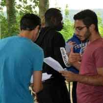 M usicalprobe beim Sommercamp in der Jugendherberge Essen-Werden