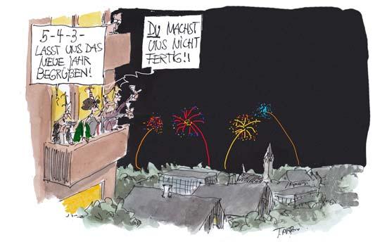 Karikatur von Thomas Plassmann