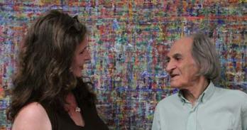 Renate Klaschka und Arno Stern in seinem Institut in Paris im Juni 2016