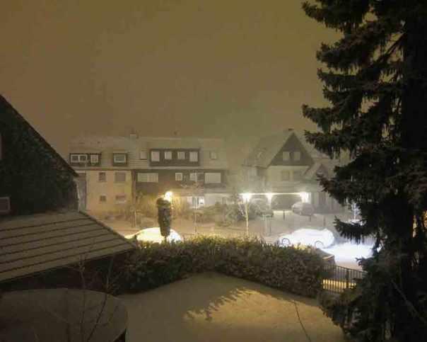 Schneetreiben in Heidhausen