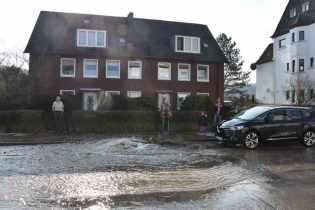 Wasserrohrbruch in Werden