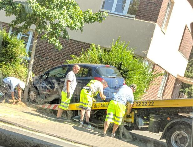 Unfall vor Lidl