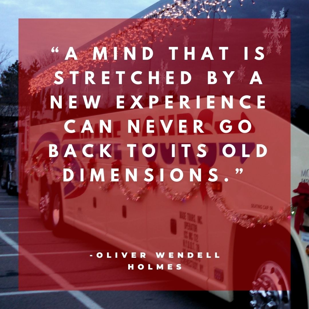 A mind that is stretched bya new experience can never go back to its old dimensions.