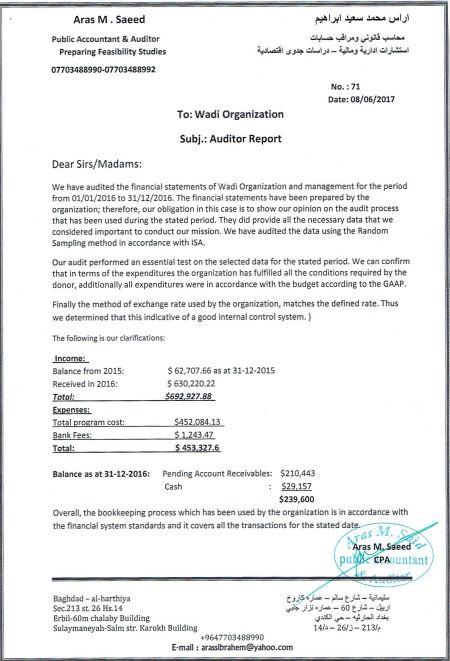 financial reports wadi