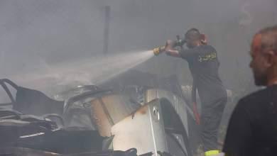 Photo of حريق بؤرة لتجميع قطع السيارات وسيارتين في البرج الشمالي.