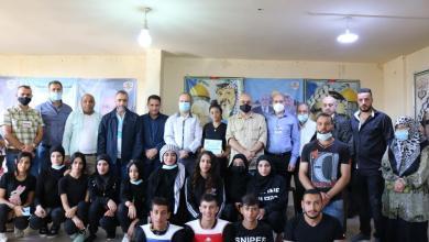"""صورة د. رياض أبو العينين يفتتح نادي الأشبال والفتوة للـ""""كيك بوكسنغ"""" في مخيّم الجليل"""