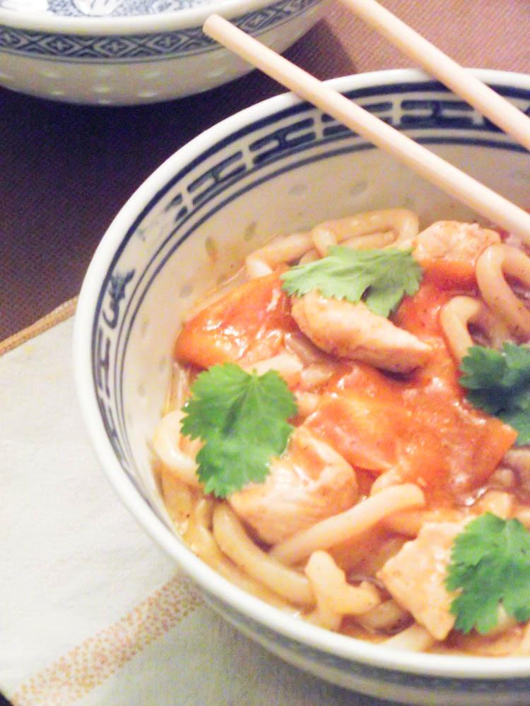 Kare Udon ou Curry de nouilles japonaises - Muse To The Pharaoh