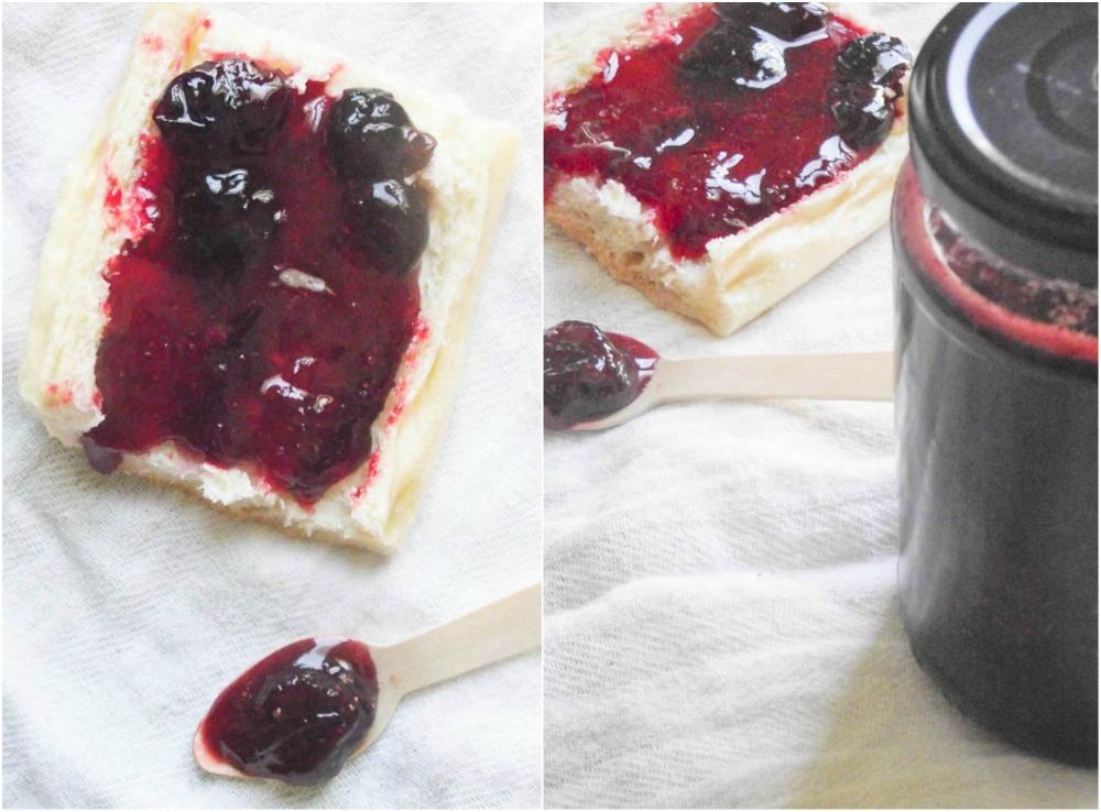 Confiture de fraises et myrtilles à la vanille & petits tracas