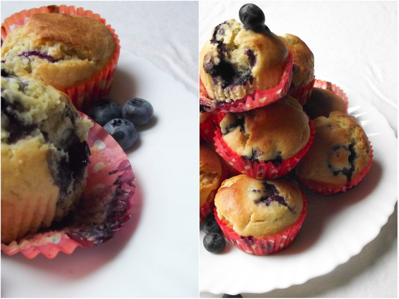 Muffins myrtilles & chocolat blanc - Muse To The Pharaoh