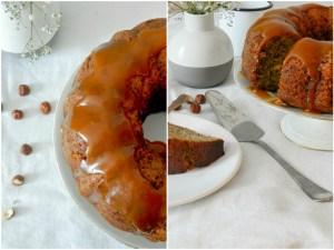Banana Bread Bundt Cake aux noisettes et au caramel