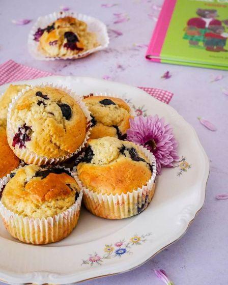 Muffins d'épeautre aux myrtilles