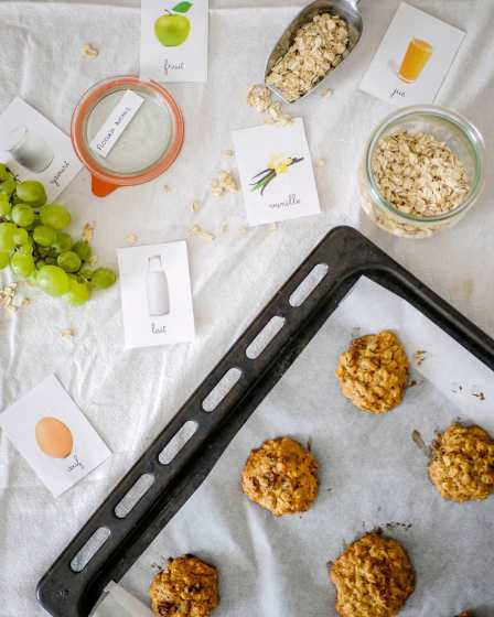 Petits cookies aux flocons d'avoine et aux raisins