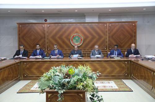البيان الصادر عقب اجتماع مجلس الوزراء الموريتاني