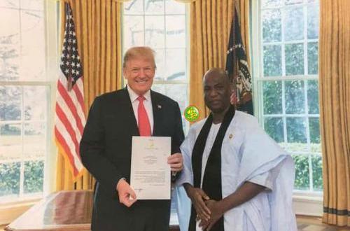 اترمب يتسلم أوراق سفير موريتاني جديد