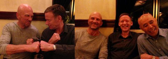Tim Shaw, Gertjan Martens and Sugasawa Sensei on a course in Holland.