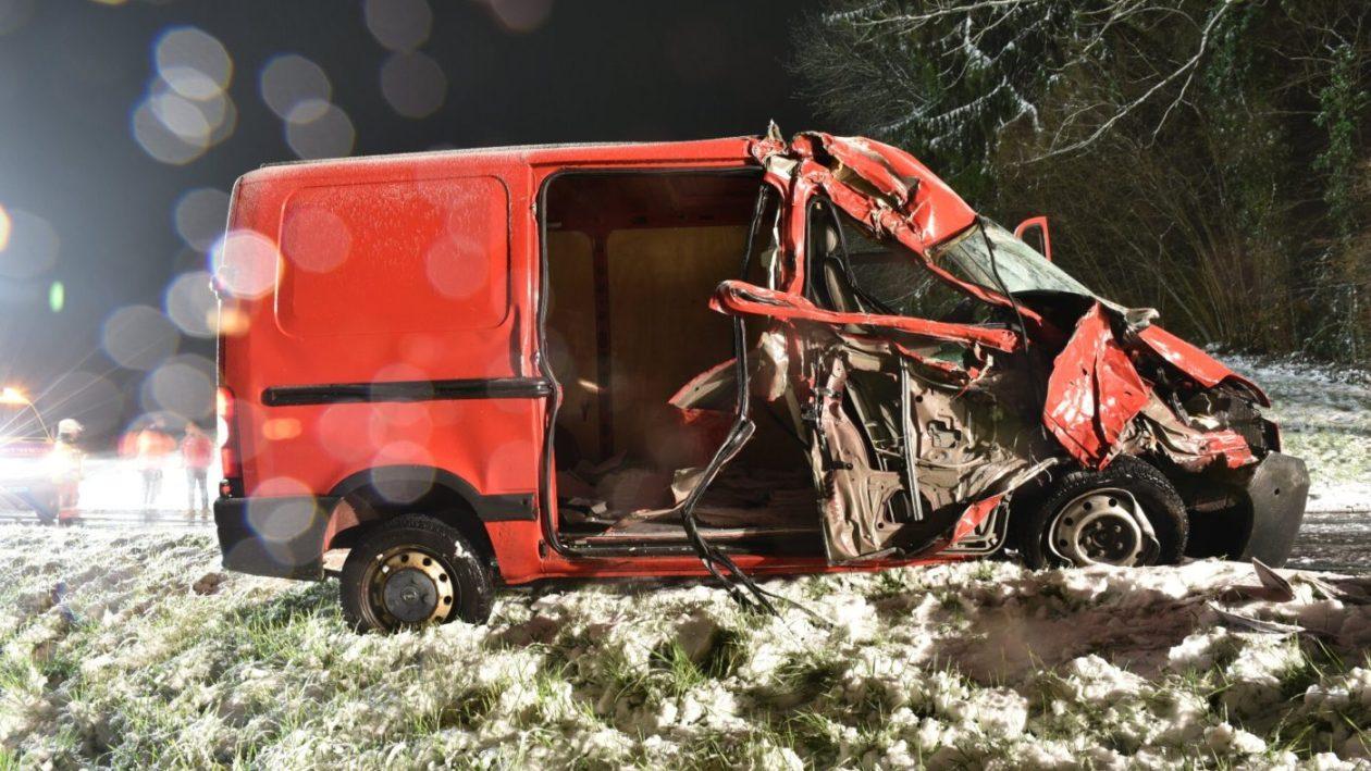 Schönenberg: Verkehrsunfall mit Lieferwagen fordert Todesopfer (Bild: Kapo ZH)