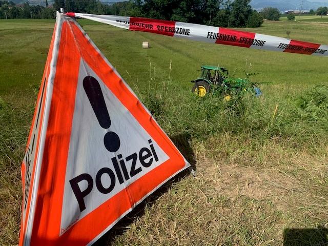 Traktorunfall in Samstagern (Bild: Kapo)