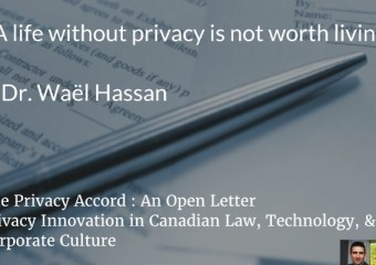 THE PRIVACY ACCORD: AN OPEN LETTER