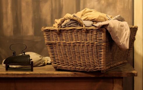 Wäschekorb geflochten