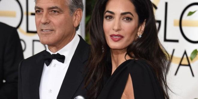 أمل علم الدين وجورج كلوني يتبرعان بـ100 ألف دولار لإغاثة لبنان