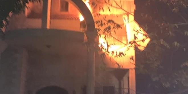 حريق منزل في طيردبا