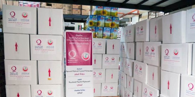 الجمعية الطبية الاسلامية وزعت حصصا غذائية في الشمال