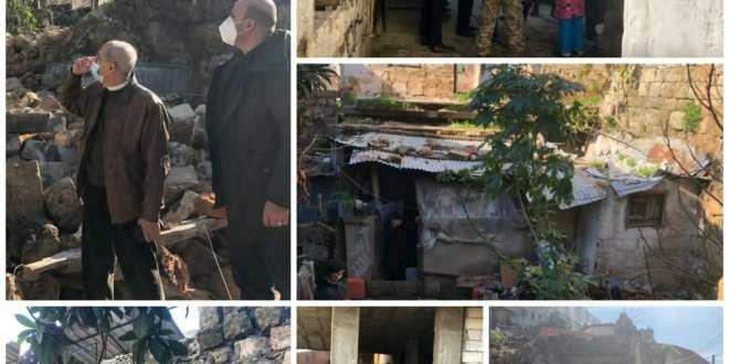 خير تفقد منطقة القبة في طرابلس وعاين أضرار فيضان النهر الكبير في سهل عكار