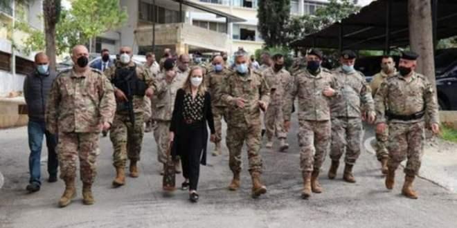 الجيش: السفيرة الكندية زارت اللواء اللوجستي