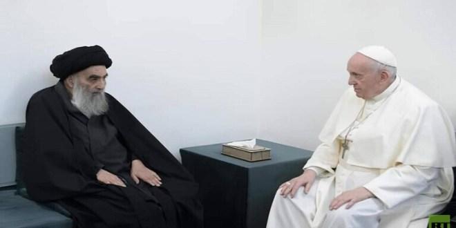 """""""الحزب"""" يشيد بلقاء البابا فرنسيس والسيستاني.. هذا ما قاله"""