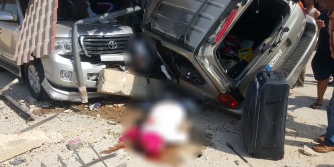 قتيلان بحادث سير على اوتوستراد شكا