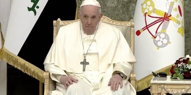 """العراق… البابا فرنسيس يدعو إلى الوحدة ونبذ الانقسام: """"كفى عنفاً وتطرفاً"""""""
