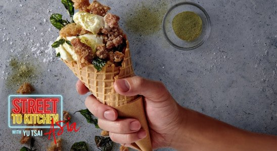 Popcorn Chicken and Waffles with Ice Cream   Street To Kitchen Asia   In The Kitchen with Yu Tsai