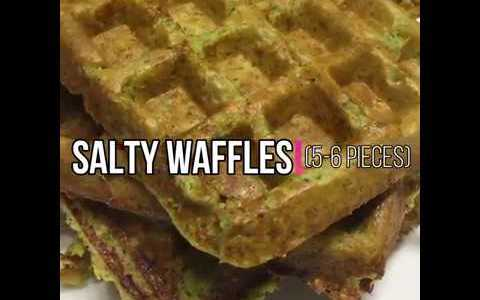 Salty Waffles / ONE-MINUTE RECIPE / HEALTHY FOOD / #healthyfood