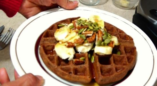 Carob Buckwheat Waffles