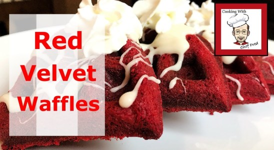 Easy Red Velvet Waffles With Cream Cheese Icing