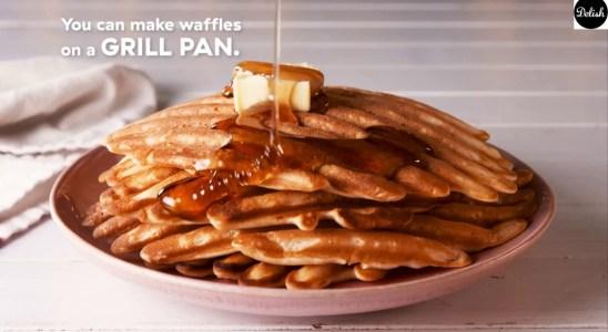 Grill Pan Waffles   Delish 237