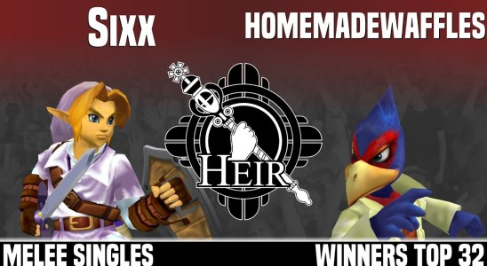 Heir 4 - Sixx (Link) vs homemadewaffles (Falco) - MELEE SINGLES - WINNERS TOP 32