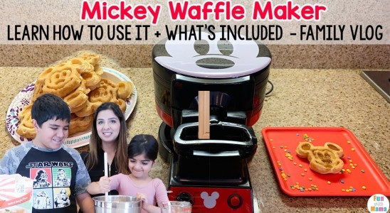 Mickey Double Waffle Maker to create Mickey Mouse Waffles