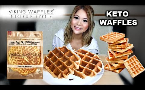 VIKING WAFFLES IN 4 WAYS | KETO WAFFLES | (MUKBANG)