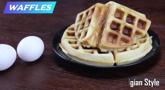 Waffles recipe  | Homemade  belgian waffles | Easy snack recipe
