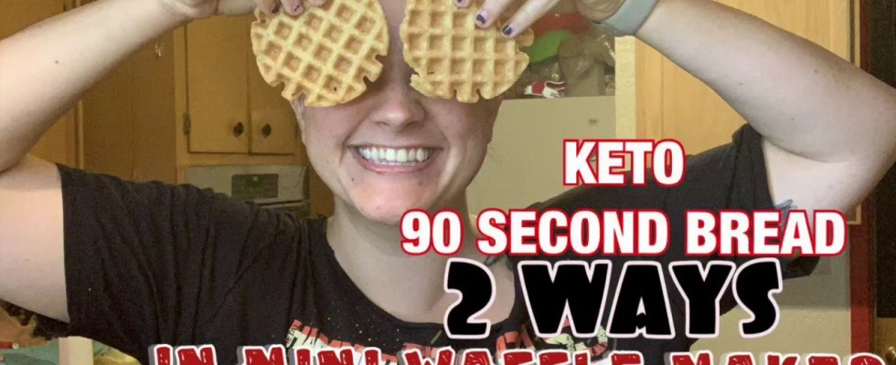 90 Second Bread WAFFLES 2 WAYS | Lazy Keto Recipe | Chassity Hudgins | Lazy Keto