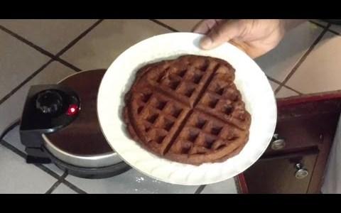 Chocolate Strawberry Belgian Waffle, Carbquik Recipe