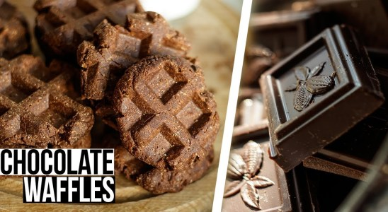 Chocolate Waffles Recipe | How To Make Chocolate Waffle At Home | JustaFood