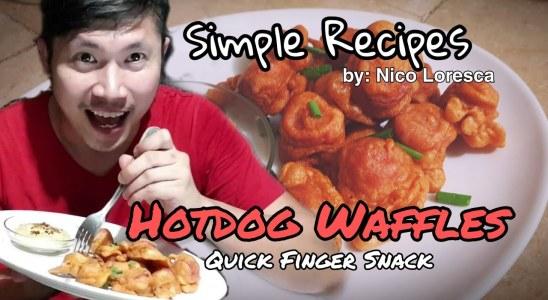Hotdog Waffles Recipe: A Simple Quick Finger Snack