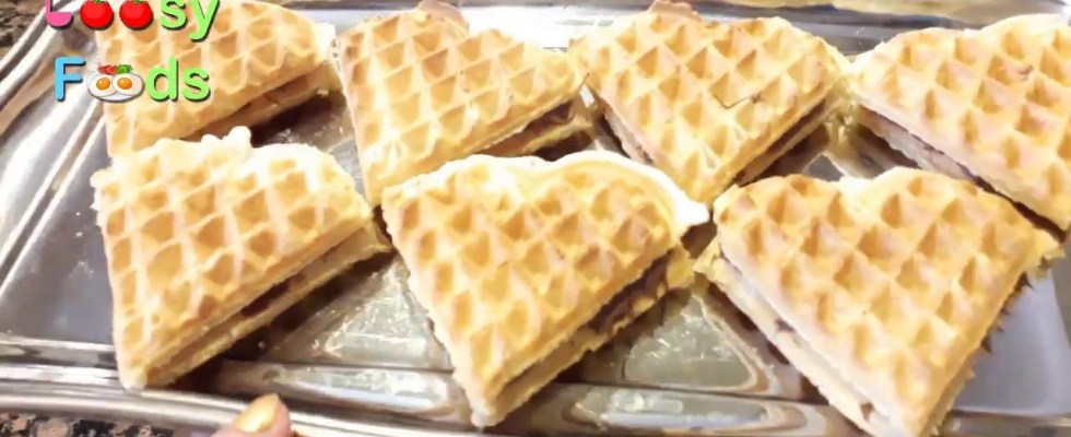 How to make Homemade Waffles recipe ( Quick and Easy Belgian Waffles ) ( Waffles with nutella )